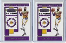2019-20 Contenders Lebron James 2 Card Lot Lakers