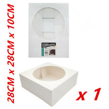 "11"" CAKE BOXES Window Face Cardboard White Cake Cupcake Box Birthday Party Bulk"