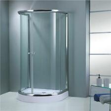 Shower Enclosure Walk in Sliding Doors D Shape Cubicle Easy Supreme Plumb Tray