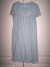 Secret Treasures Sleeveless Gown Womens Size XL(16-18)  BLUE FLORAL_EUC