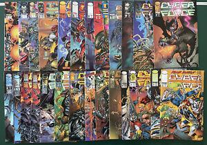 Lot of 26 cyber force comic books