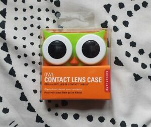 OWL CONTACT LENS CASE: Travel Storage Hard Holder Container