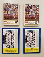 Milwaukee Brewers Police 30 Card Sets-2 1990-2 1991. Lot of 4. Yount, Molitor...