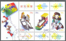 Ireland-Year of the Horse greetings min sheet fine used cto 2002-Toys