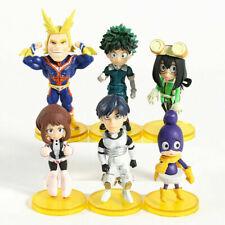 6pcs Set Anime My Hero Academia Vol.4 Mini PVC Figure New No Box