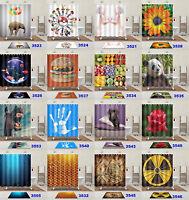72x72'' New Shower Curtain Bathroom Waterproof Polyester 12 Hooks free ship