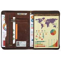 Tony Perotti Italian Leather Deluxe Zip-Around Writing Pad Portfolio