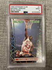 1992 Stadium Club Michael Jordan Beam Team #1 PSA 9 MINT