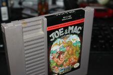 NINTENDO  NES  GAME JOE AND MAC WITH DUST COVER