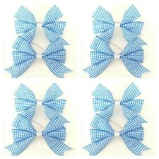 SALE Handmade Girls School Hair Bow Clips Sold In Pairs Light Blue