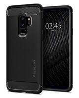 Galaxy S9 Plus Case, Spigen Rugged Armor Cover - Matte Black
