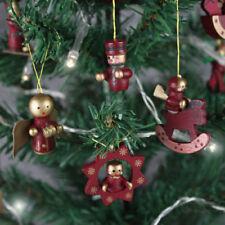 Décorations de sapin de Noël arbres en bois pour noël