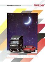 1 Herpa Neuheiten 1991 4/91 Prospekt Modellautos Modellautoprospekt brochure