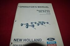 New Holland 608 610 612 Running Gears Operator's Manual CHPA
