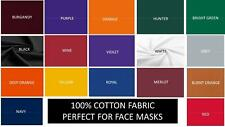 Solid Cotton Fabric-100% Cotton for Face Masks, Quilting, Crafting-FULL YARDS