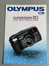 Olympus Superzoom 110 35mm Camera, A4 Paper Brochure, 12 Pages, 1992
