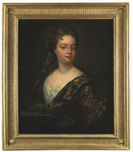 Circle of Sir Godfrey Kneller  Portrait of Katharine, wife of Thomas, 6th Earl o