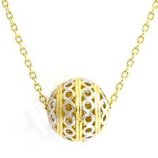 10k White/Yellow Sphere Gold Pendant & Chain(new, 2.5gr)#3323