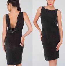 BNWT Ladies JANE NORMAN Black Cowl Back Evening Cocktail Party  Dress Size Uk 12