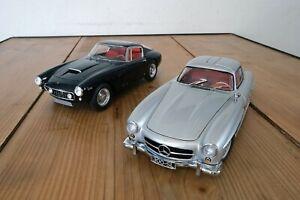 1/18 Ferrari 250 SWB Elite W1180 et 1/18 Mercedes 300SL Minichamps B66040379