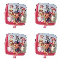 "4 PINK Paw Patrol balloon 18""Chase Marshall birthday party foil balloon Helium"