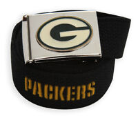 Web Belt with Buckle Green bay Packers