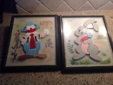 Vintage 1960s Magnetic Puzzle Lot Child Guidance Toy Clown Rabbit 905 908