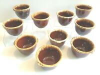 """10 VTG Hull Brown Drip 3 1/2"""" Small Dipping Sauce Appetizer Ovenproof Snack Bowl"""