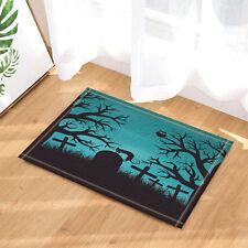 Door Mat Bathroom Rug Bedtoom Carpet Bath Mats Rug Non-Slip Halloween Forest