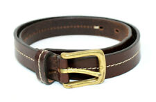 Eddie Bauer Women's Small Made In Italy Leather Solid Brass Belt