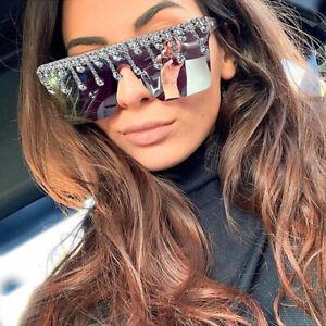 Trending 2021 Rhinestone Sqaure Sunglasses Women Driving Outdoor Shades UV400