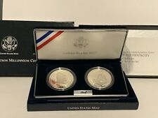 2000 P Leif Ericson Commemorative Silver Dollar Proof Coin 2 Coin Set Complete
