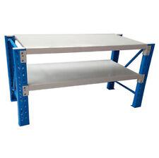 Steel Workbench Garage Shelving Rack Warehouse Stand Work Bench 120x60x90cm