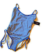 3bc577c548 ... White Stripe Swim Bathing Suit Tie Side Maillot Ana Capri XS.  19.99  New. Juicy Couture Side Tie Maillot 1 PC Swimsuit Bathing Suit Womens Small