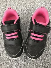 TU girls black/pink trainers size 9