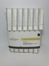 Threshold Vintage Washed Percale 3 Piece Sheet Set Twin Normandy Blue NEW