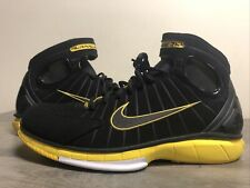 NIKE AIR ZOOM HUARACHE 2K4 Kobe Bryant Rondo Lakers Black Yellow Men Size 11 US