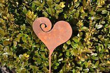 Deko Herz Gartenstecker Rost Edelrost Metall Gartendeko Geschenk Valentinstag