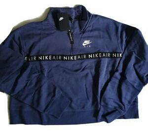NIKE Women`s Sweatshirt Big Logo Cropped 1/2 zip jacket