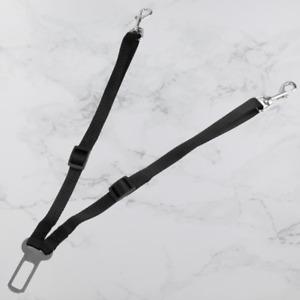 Twin Dog Car Seat Belt Pet Clip Safety Harness Adjustable Rotating Travel Strap