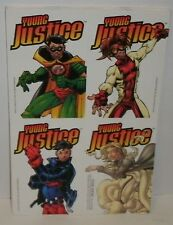 DC - YOUNG JUSTICE - 4 STICKER PROMO SHEET