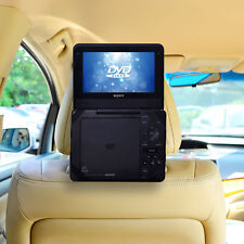 Car Headrest Mount - 7 Standard Portable DVD Player Holder Case with strap  TFY