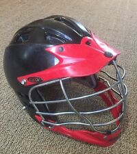 Cascade Cpx, Black & Red, Chrome Cage, Lacrosse Helmet Lax Look