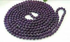 8mm Russican Amethyst Round Bead Gemstone Necklace 50""