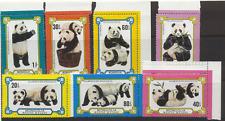 Mongolia 1977 osos pandas// animales 7 V Set (n11587)