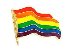 Gay Pride Rainbow Wavy Flag  Lapel Pin