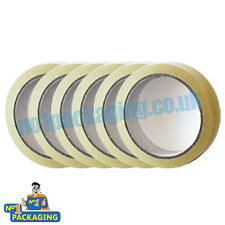 72 Rolls sellotape 24mm x 66m (1 inch Wide) Clear Parcel Packing Packaging Tape