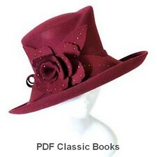 Millinery Hat-Making Patterns Designs Instructions How to Make Hats 18 Books ~CD