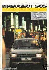 Auto Brochure - Peugeot - 505 - 1986 (AB258)