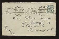 Malaya PERFIN 1936 boustead + Co... spedizione Blu Imbuto linea BUSTA